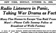 Today's Trivia October 30, 1938: Mars Invasion Causes National Panic